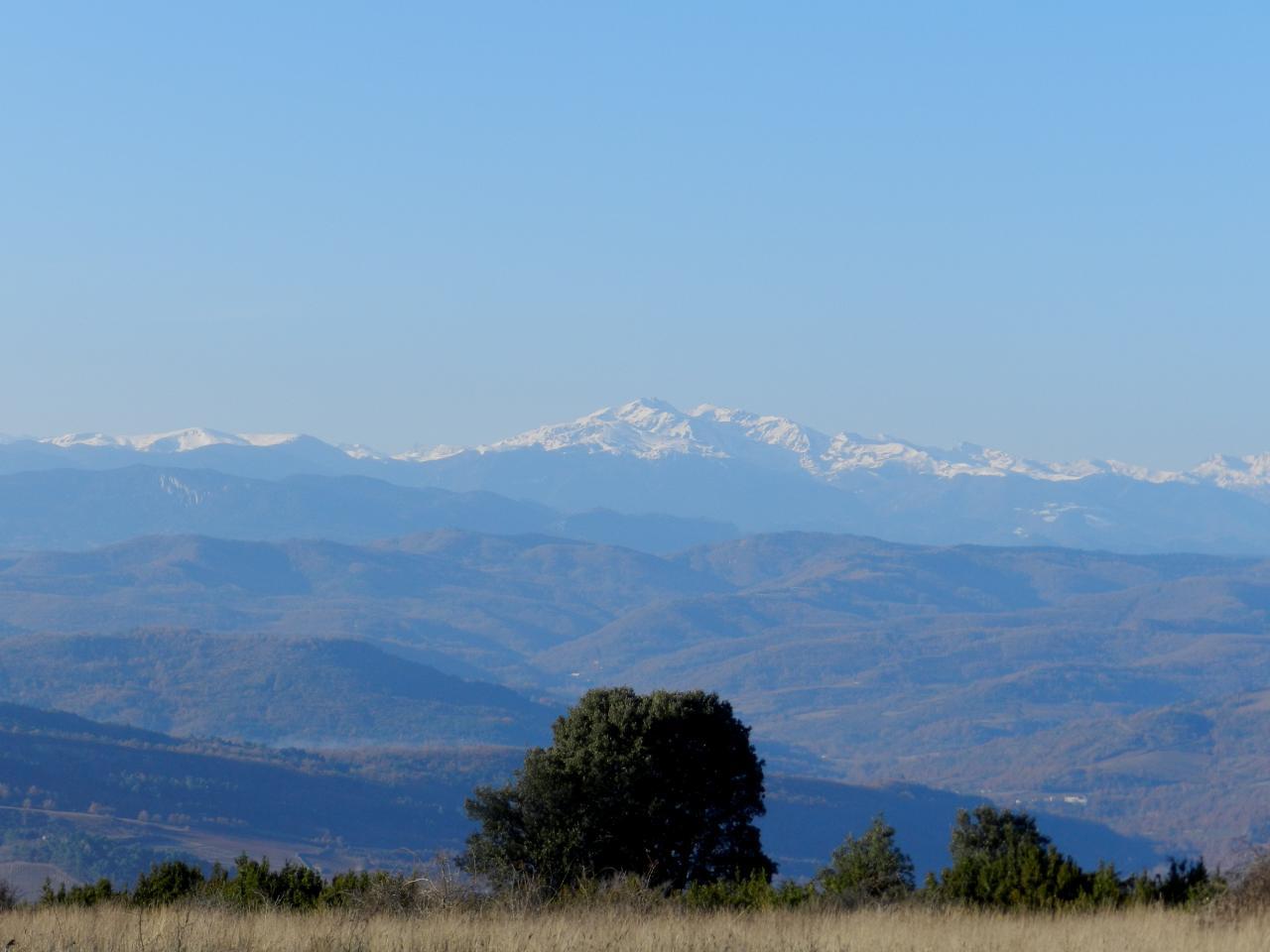 Vue sur la chaine des Pyrénées